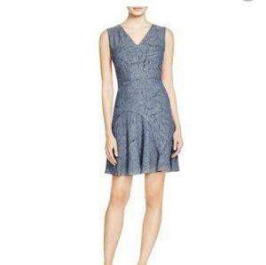 Elie Tahari Elliott denim laser cut casual dress